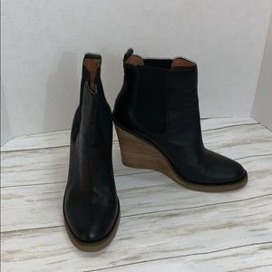Size 8 Lucky Brand Black Fedora Bootie